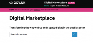 Digital Marketplace Homepage Alpha