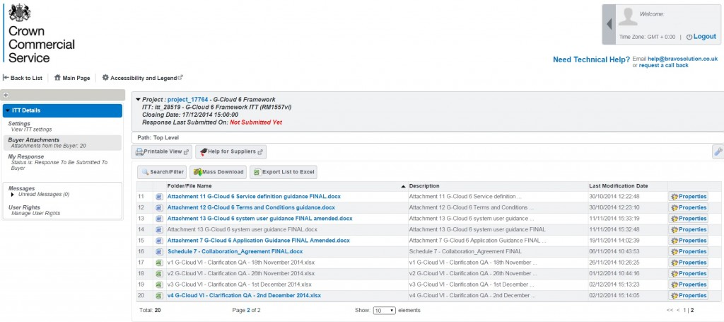 Q&A eSourcing Portal