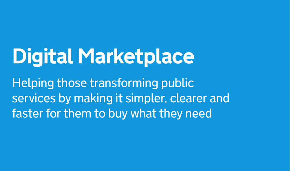 Digital Marketplace strapline